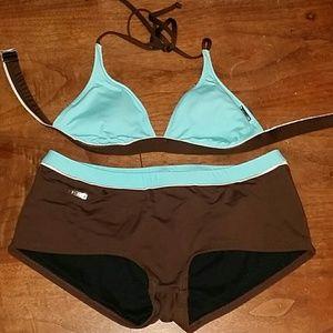 Speedo Two Piece Swim Suit Medium